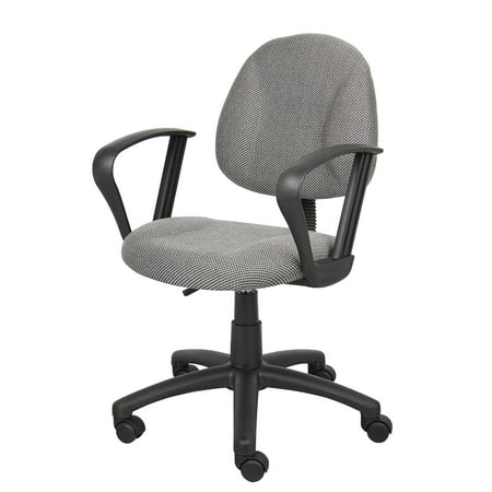 Deluxe Posture Chair with Loop Arms Gray - Boss Office Products