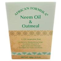 African Formula Neem Oil & Oatmeal Acne Soap Jabon Facial Avena Piel Seca, 3.5 Oz