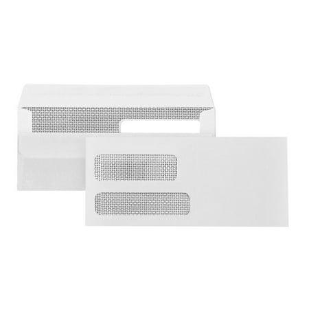 Double Window Statement Envelopes - Blue Summit Supplies #9 Flip & Seal, Double Window Envelopes, 500/box