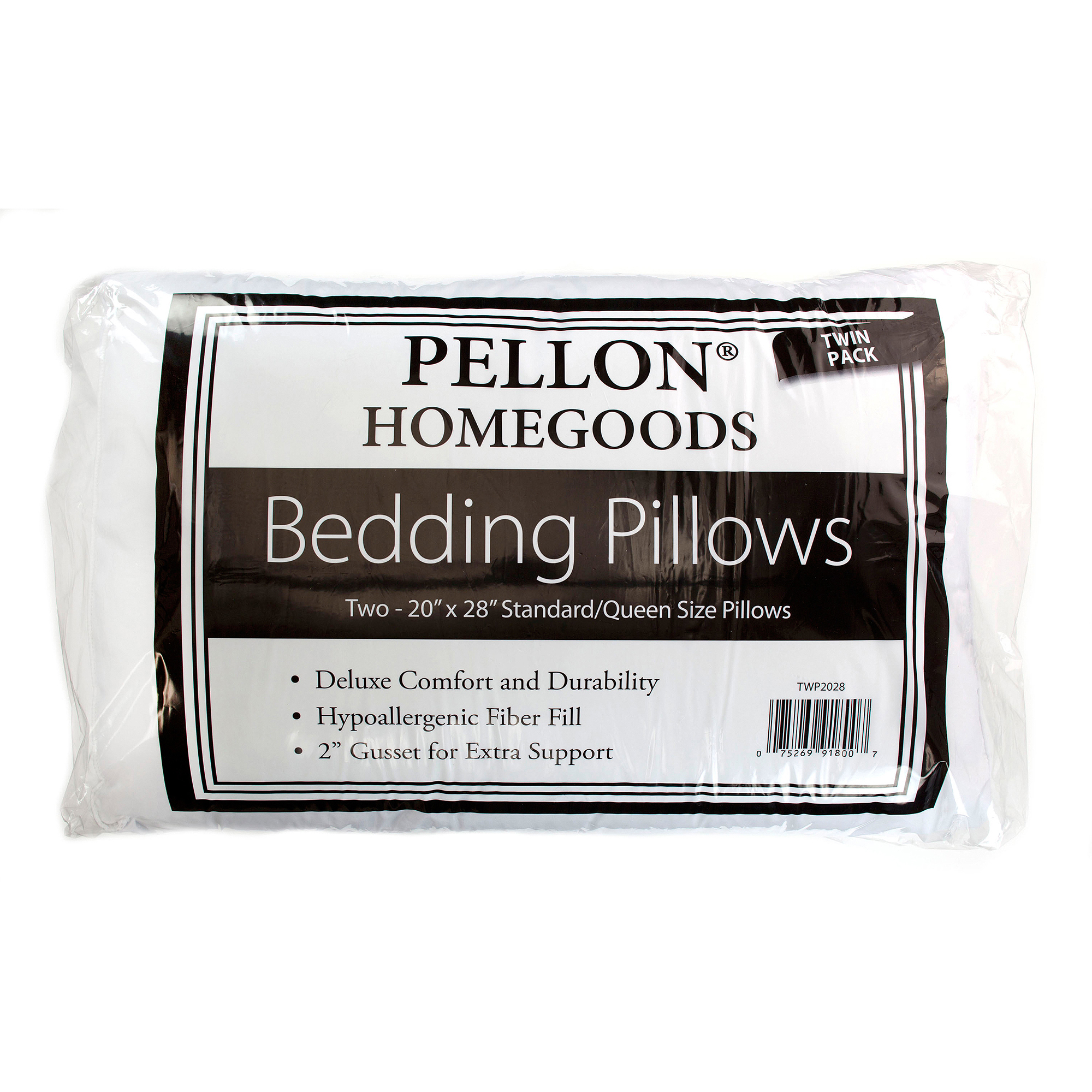 Pellon Hypo-Allergenic Twin Pack Bed Pillows