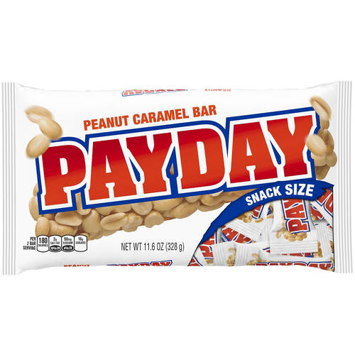 Payday Snack Size Candy Bars, 11.6 oz