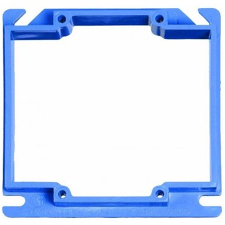4 in. Square Two Gang Plaster & Mud Ring 4' Square Mud Ring
