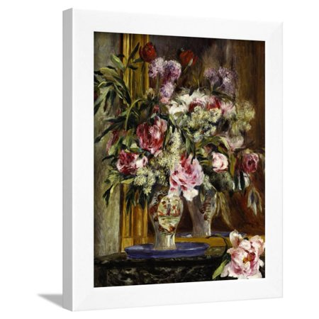 Vase of Flowers, Vase de Fleurs, 1871 Framed Print Wall Art By Pierre-Auguste