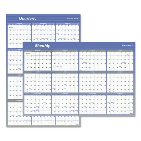 AT-A-GLANCE Vertical/Horizontal Erasable Wall Planner, 24 x 36, 2018