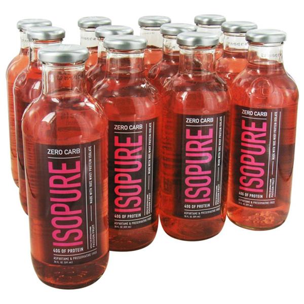 Isopure glass bottles