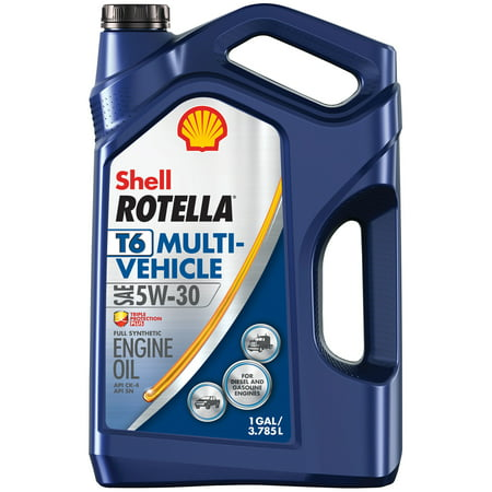 Shell Rotella T6 Multi-Vehicle 5W-30 Full Synthetic Diesel Engine Oil, 1