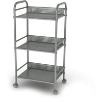 Atlantic 3-Tier Shelving Cart with Casters