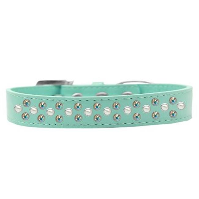 Sprinkles Dog Collar Pearl And Ab Crystals Size 14 Aqua - image 1 de 1