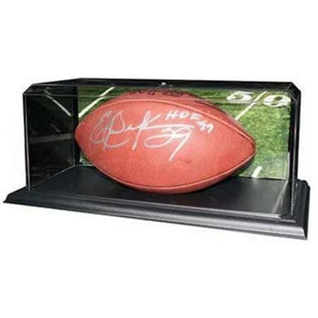Acrylic Football Display Case with Black Base - 15 1/2