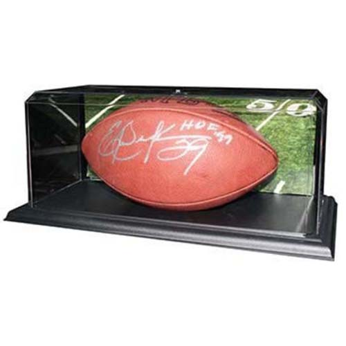 "Acrylic Football Display Case with Black Base - 15 1/2"" x 7"" x 6"""