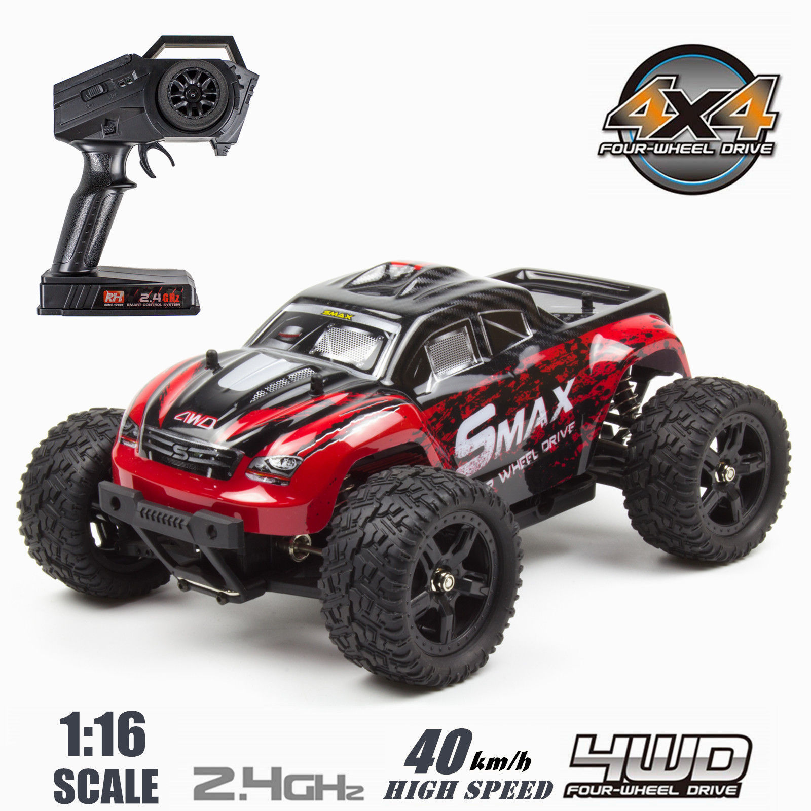 REMO HOBBY 4WD RC Brushed Car 1631 1 16 Scale Off-road Short-haul Monster Truck by Remo