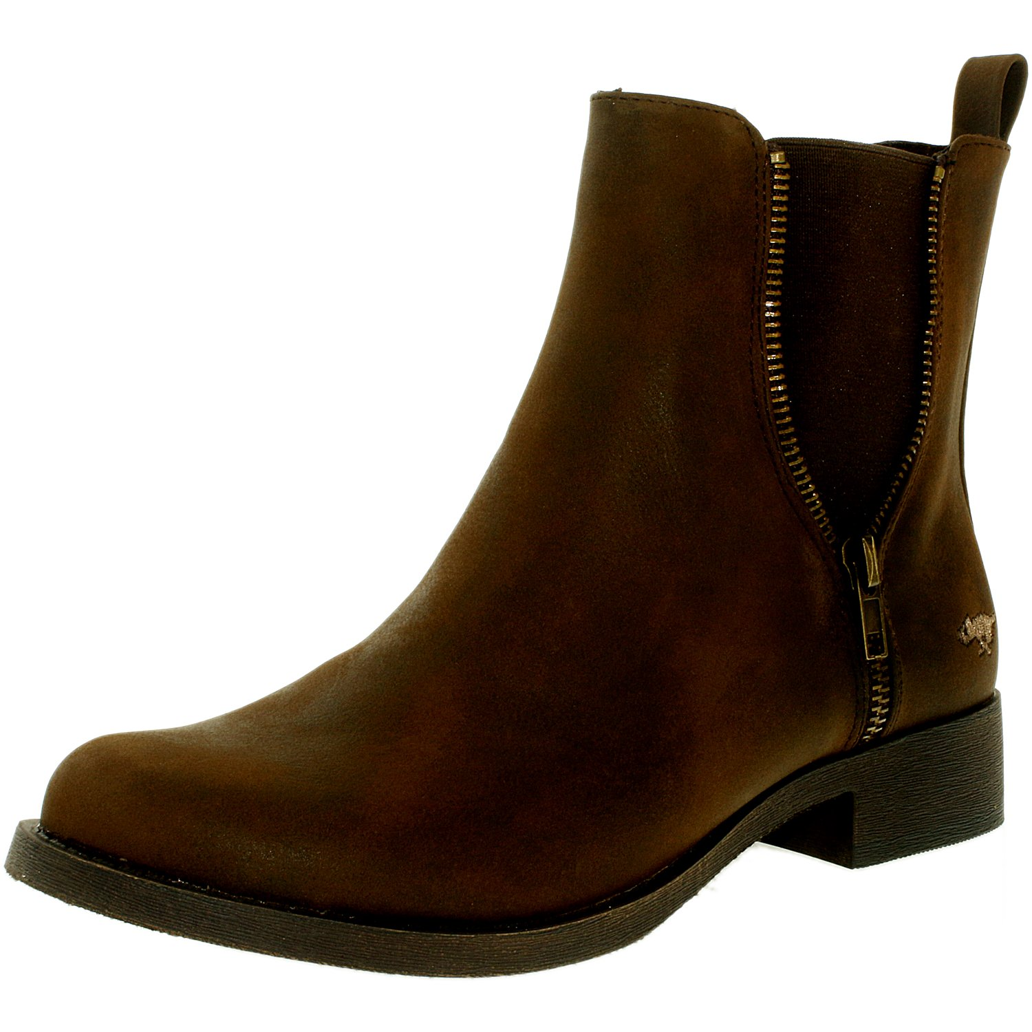 Rocket Dog Women's Camilla Gr Brown Ankle-High Leather Boot - 10M