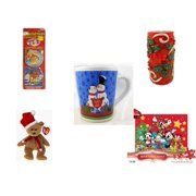 """Christmas Fun Gift Bundle [5 Piece] - Xmas Ornamentbooks: Grandfather's Nativity, Reindeer -  Candle Holly Berry Pillar 3 x 6 - Happy s! """"Believe In The Magic"""" Snowman Couple Mug - Ty Beanie Babies"""