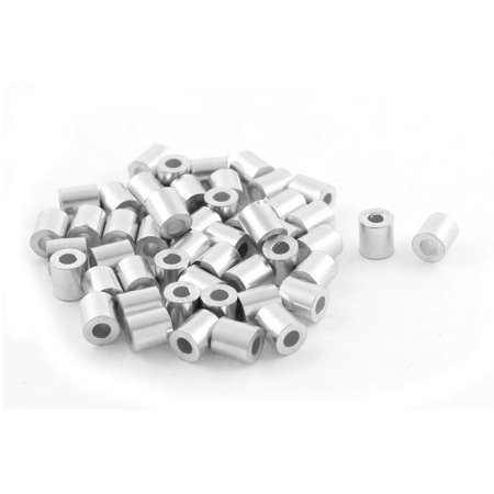 50pcs Aluminum Cable Stops Sleeves for 2mm Wire Rope Swage Clip ...