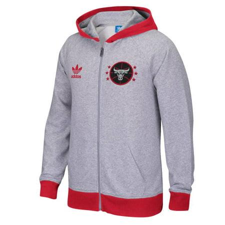 Adidas Chicago Bulls Originals Full-Zip Hoodie (Gray) by