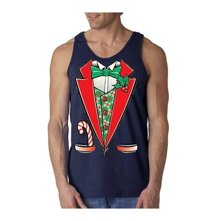 Funny Christmas Tank Tops.Tuxedo Christmas Costume Men S Tank Top 12258 Funny Xmas Tank Tops