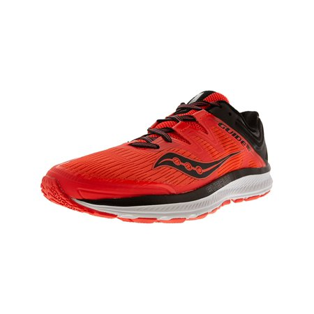 Saucony Women's Guide Iso Vizi Red / Black Ankle-High Mesh Running Shoe - (Nike Womens Shox Vaeda Synthetic Running Shoes)