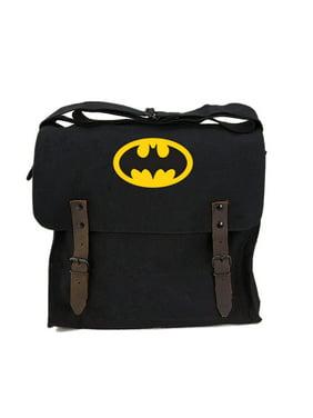 7128baade Product Image Batman Bat Symbol Army Heavyweight Canvas Medic Shoulder Bag  in Black & Yellow