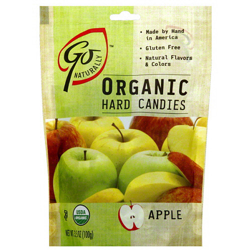 Go Naturally Apple Organic Hard Candies, 3.5 oz (Pack of 6)