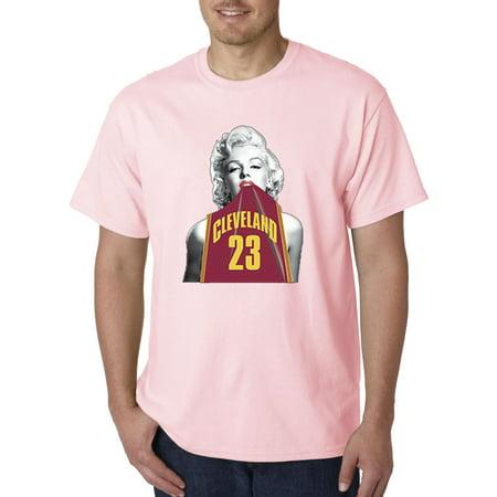 the best attitude 70ff1 97856 Trendy USA 504 - Unisex T-Shirt Marilyn Monroe Cleveland 23 Jersey  Basketball Series 4XL Light Pink
