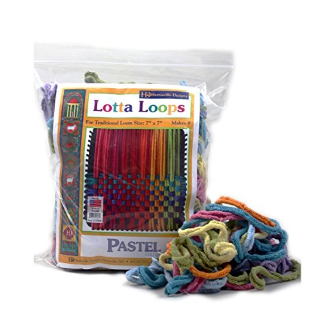 """Harrisville 7"""" Pastel Lotta Loops in Assorted Colors – Makes 8 Potholders"""