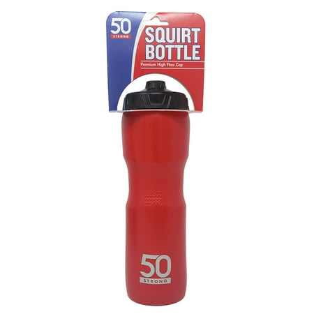 50 Strong Squirt Water Bottle with One-Way Valve - 28 oz. - Squirt Bottles