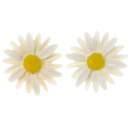 - Mi Amore Daisy Stud-Earrings White/Yellow