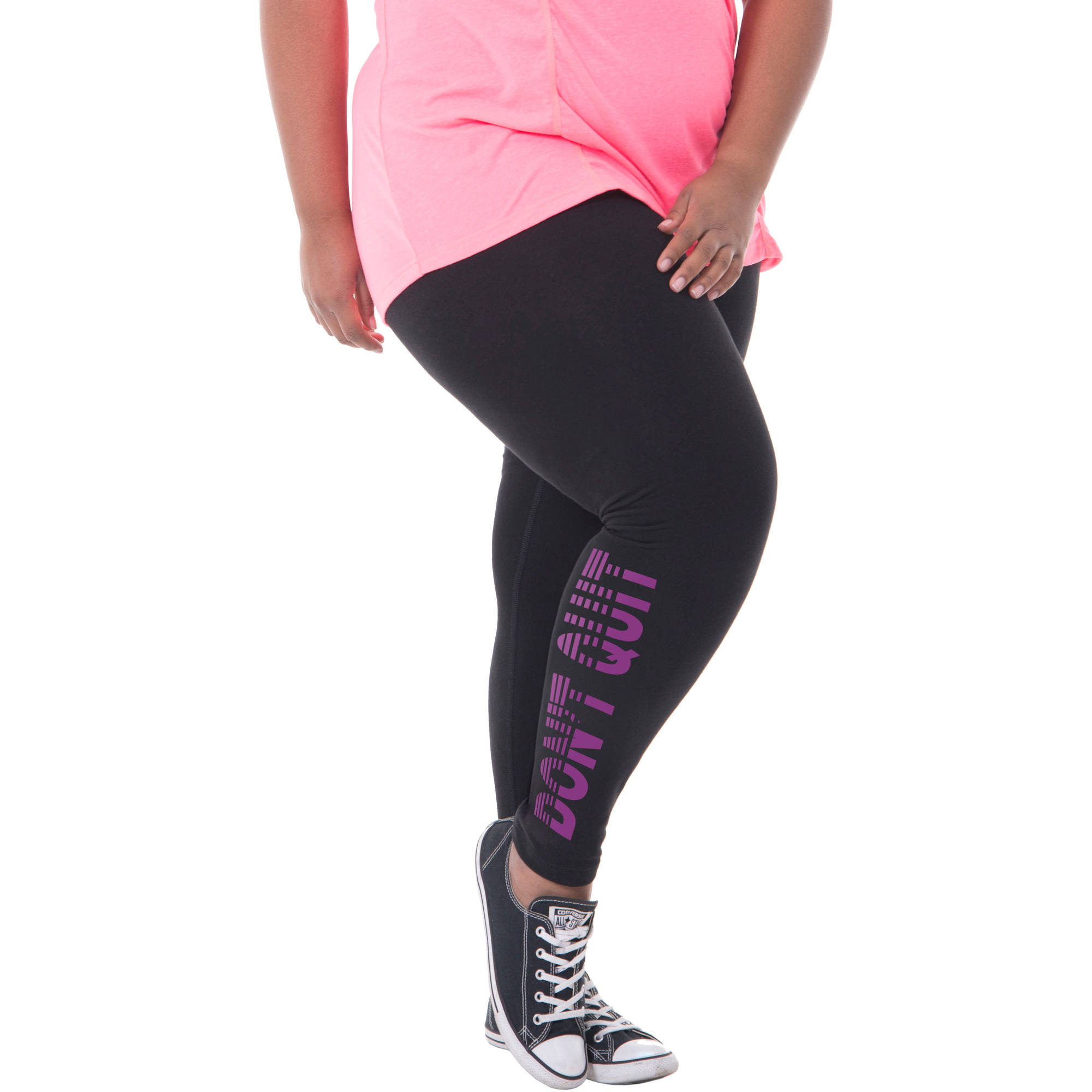 Fit for Me by Fruit of the Loom Women's Plus-Size Graphic Legging