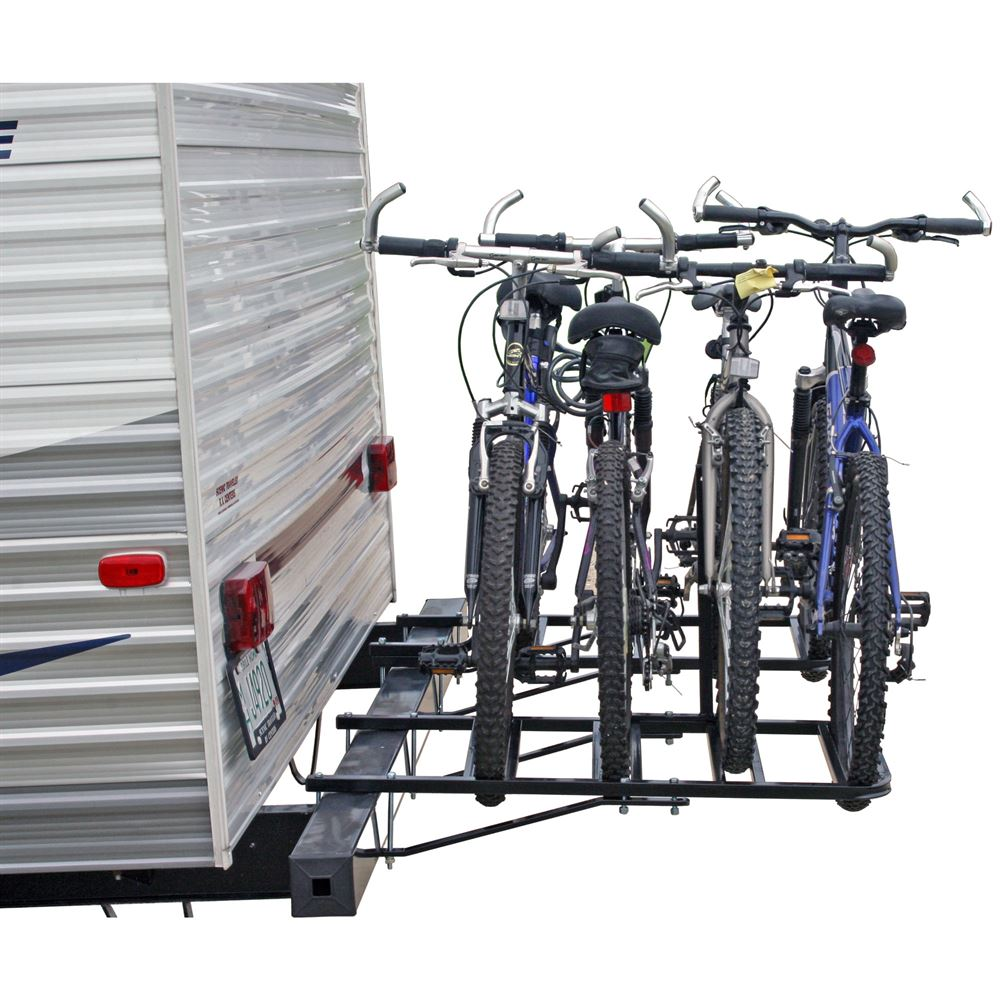 Trailer Bike Rack >> Rv Or Camper Trailer Bumper Bike Rack For 1 4 Bicycles