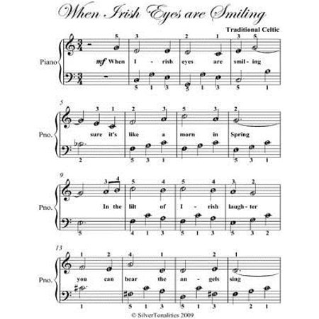 When Irish Eyes Are Smiling Easy Piano Sheet Music - eBook - Walmart com