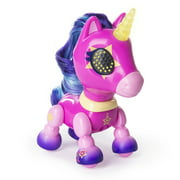 Zoomer - Zupps Tiny Unicorns, Stardust, Interactive Unicorn with Light-up Horn, for Ages 4 and Up