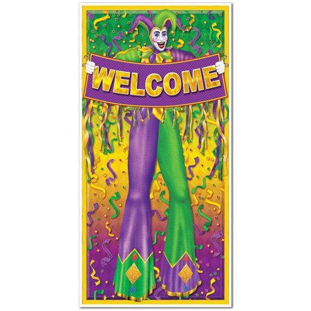 (Pack of 12) Mardi Gras Door Cover