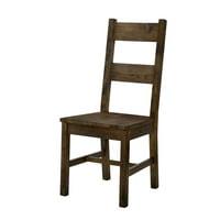 Furniture of America Belton I Side Chair (Set of 2) in Rustic Oak