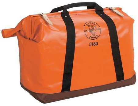 Klein Tools Tool Bag, Vinyl Coated Nylon, Orange, 5180 by Klein Tools
