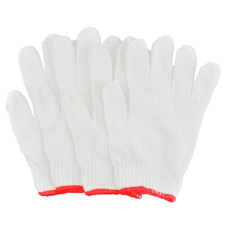 Carpenter Electrician Cotton Blends Stretch Cuff Working Gloves White 4 - Carpenters Glove
