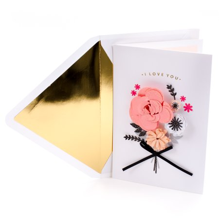Hallmark Signature Valentine's Day Card for Wife (Paper Flowers with Ribbon) (Paper Valentine)