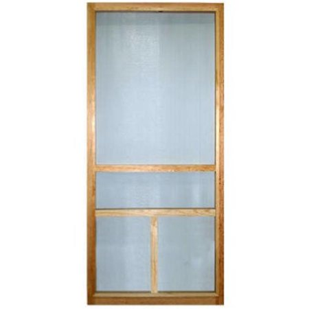 Wood Products 244083 T-Bar Wood Screen Door, Charcoal - 2 ft. 8 in. x 6 ft. 8 -