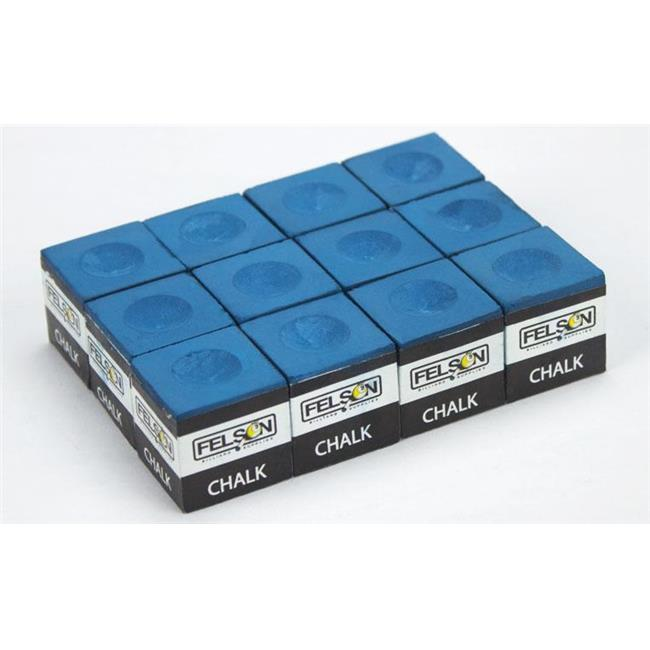 Bry Belly SFELS-005 Box of 12 Blue Cubes of Pool Cue Chalk