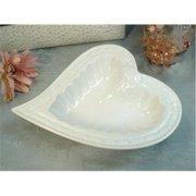 DLusso Designs B3111 Couture Line Heart Dish, Pack Of - 3.