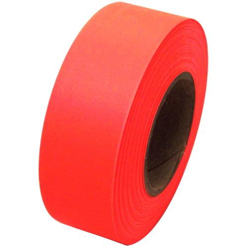 Fluorescent Orange Flagging Tape 1 3/16 inch x 150 ft Non-Adhesive