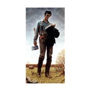 Lincoln the Railsplitter (or Young Woodcutter) Americana Painting of Man Print Wall Art By Norman Rockwell