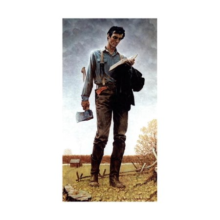 Lincoln the Railsplitter (or Young Woodcutter) Print Wall Art By Norman