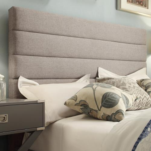 iNSPIRE Q Corbett Horizontal Striped Gray Linen Upholstered Full-size adboard by  Classic