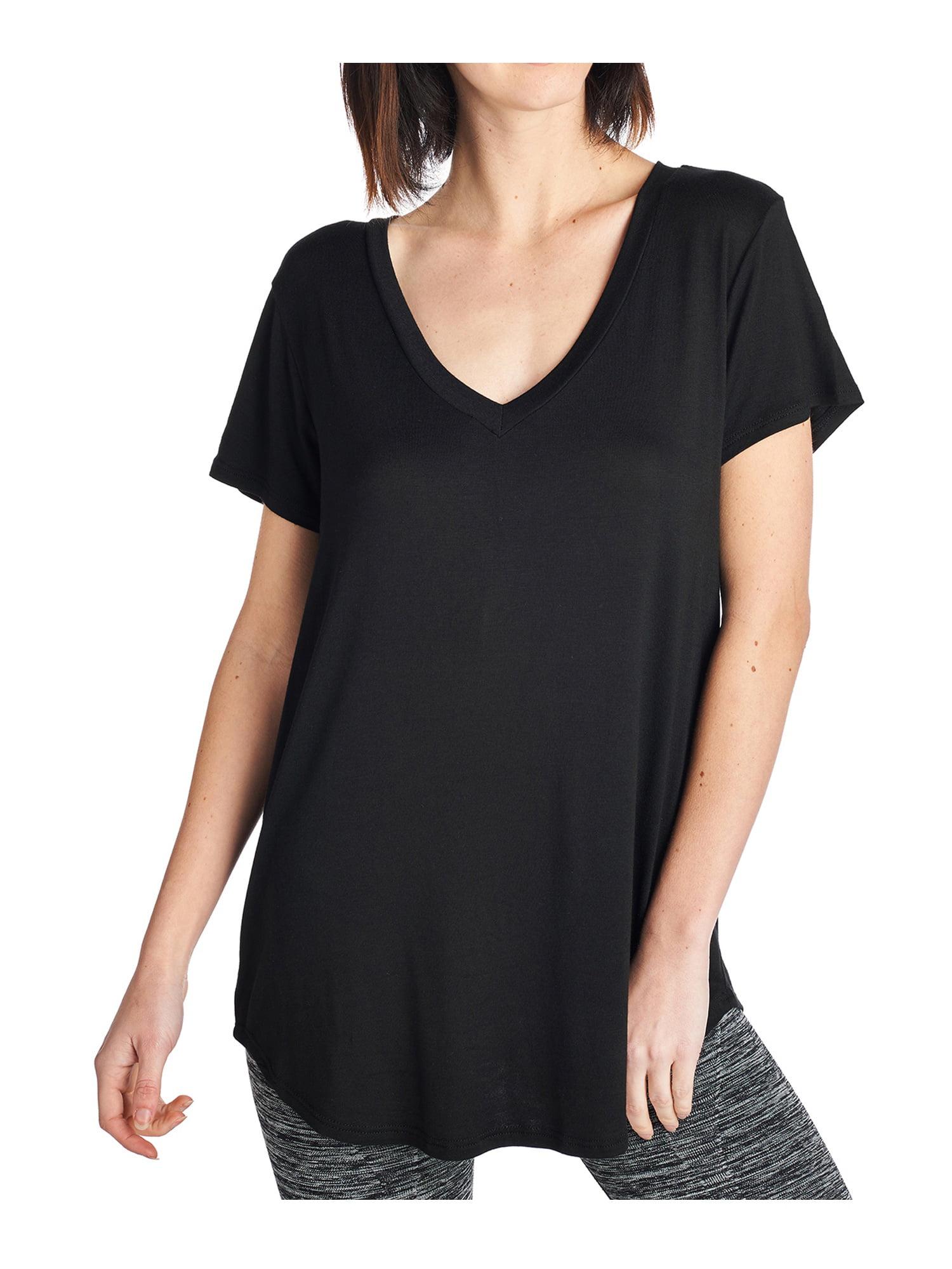 Tough Cookie/'s Women/'s Plain Silky Loose Fit V-neck Top