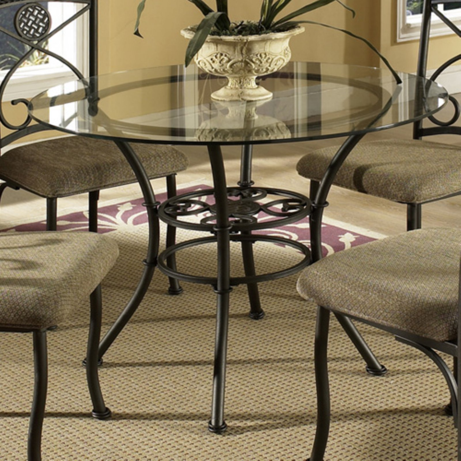 Steve Silver Brookfield Glass Top Dining Table