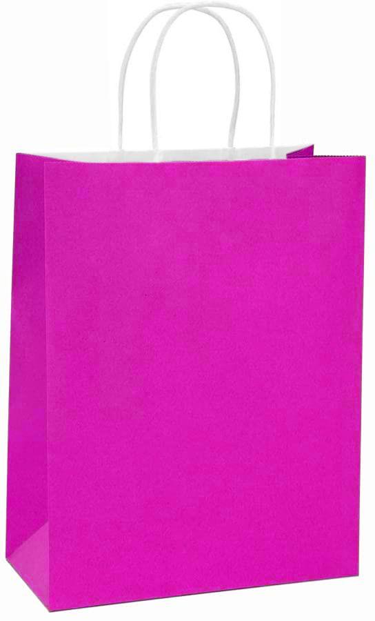 New in GIFT BAGS ! Handblock PINK hand block print medium gift bags