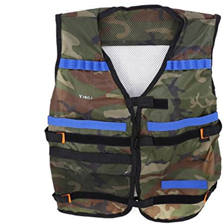 CloverTale Kids Tactical Vest Kit for Nerf Gun Wars N-Strike Elite Jacket  Kit with Target Pouch ...