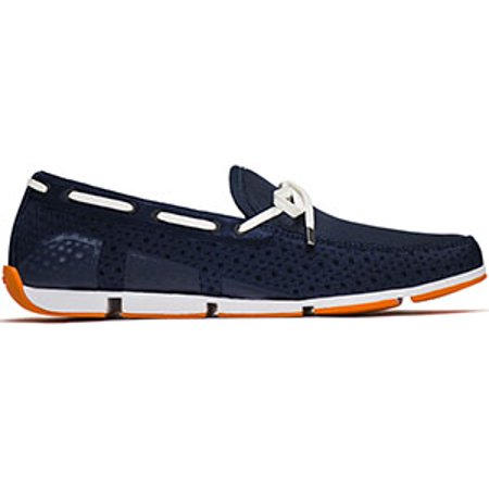60% cheap how to choose detailed pictures SWIMS Men's Breeze Lace Loafer Boat Shoes - Navy