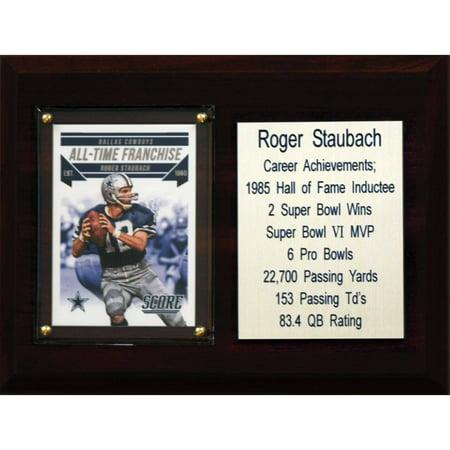 Dallas Cowboys Plaque (C&I Collectables NFL 6x8 Roger Staubach Dallas Cowboys Career Stat Plaque)