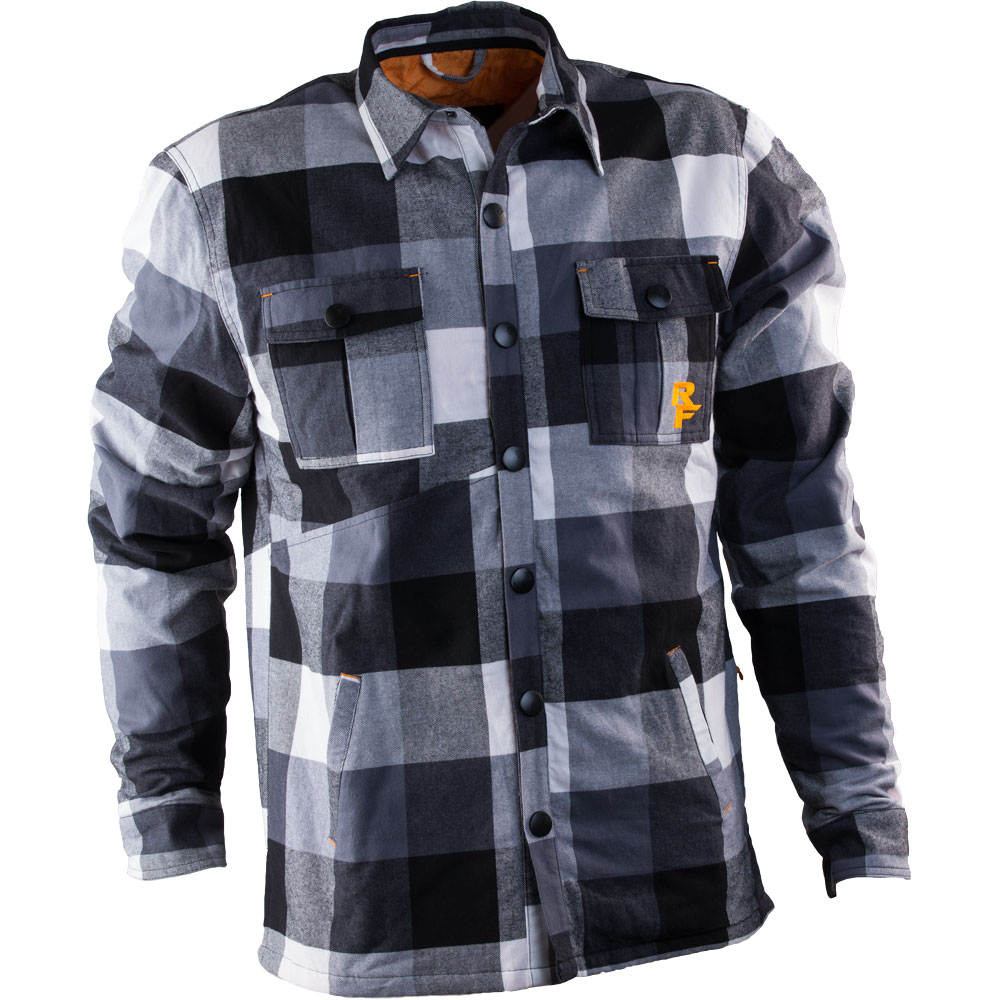 RACE FACE  RF LOAM RANGER JACKET XL BLK/WHT PLAID
